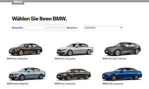 Hier geht's zum BMW Fahrzeugkonfigurator